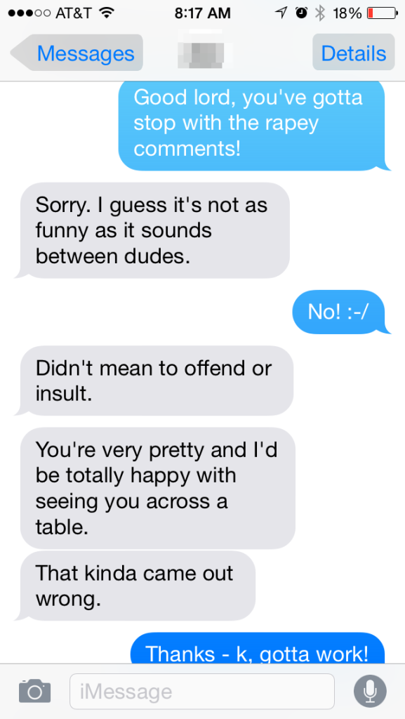 bad texts - rapey